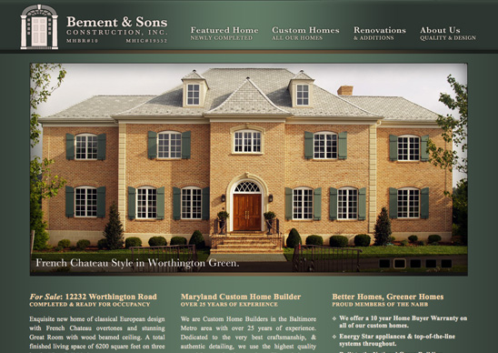 BementandSons.com Branding, logo, website design and development